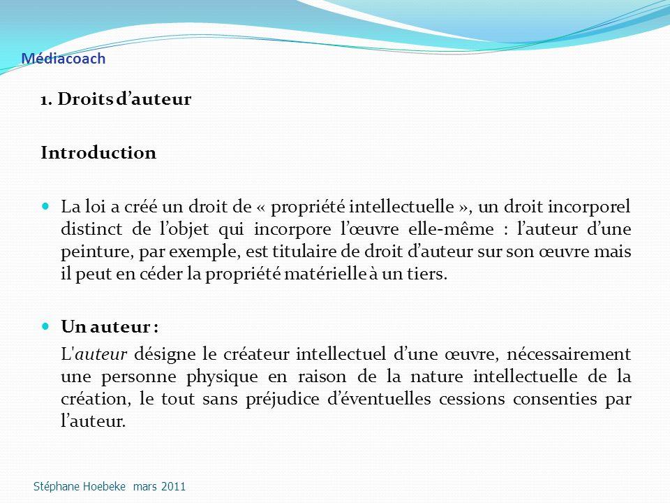 1. Droits d'auteur Introduction