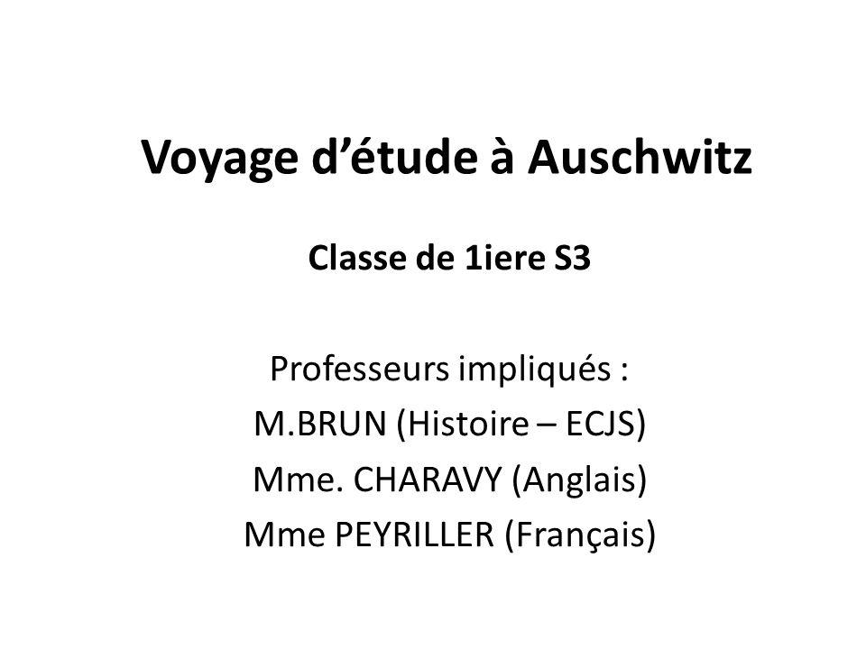 Voyage d'étude à Auschwitz