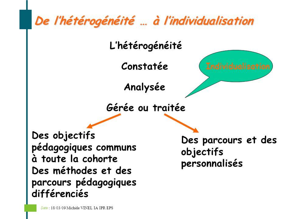 De l'hétérogénéité … à l'individualisation