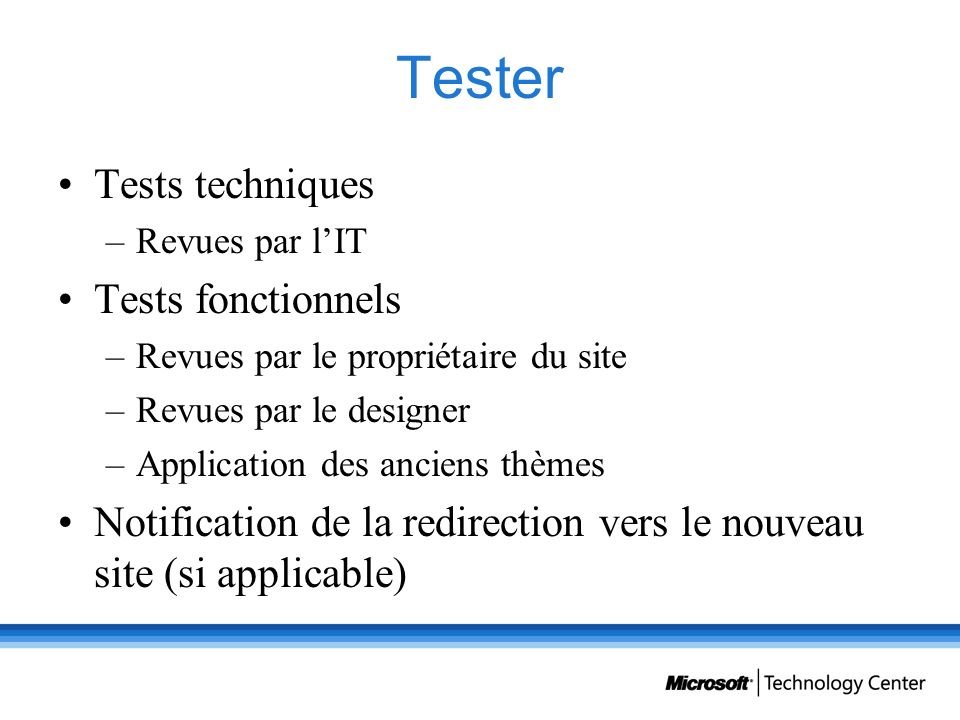Tester Tests techniques Tests fonctionnels