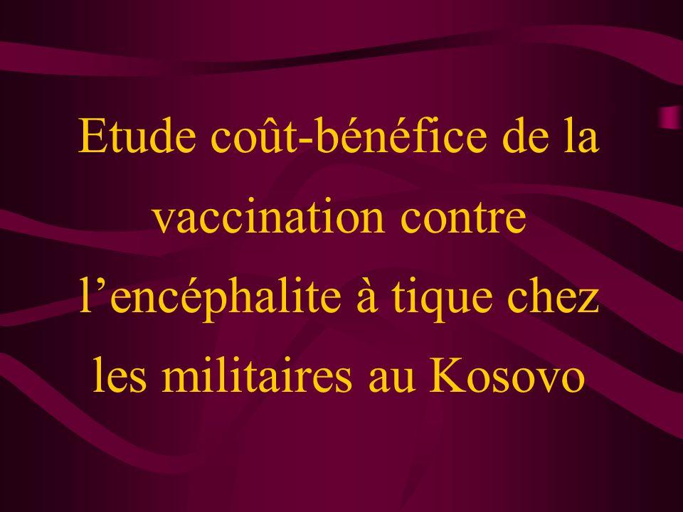 Etude coût-bénéfice de la vaccination contre l'encéphalite à tique chez les militaires au Kosovo