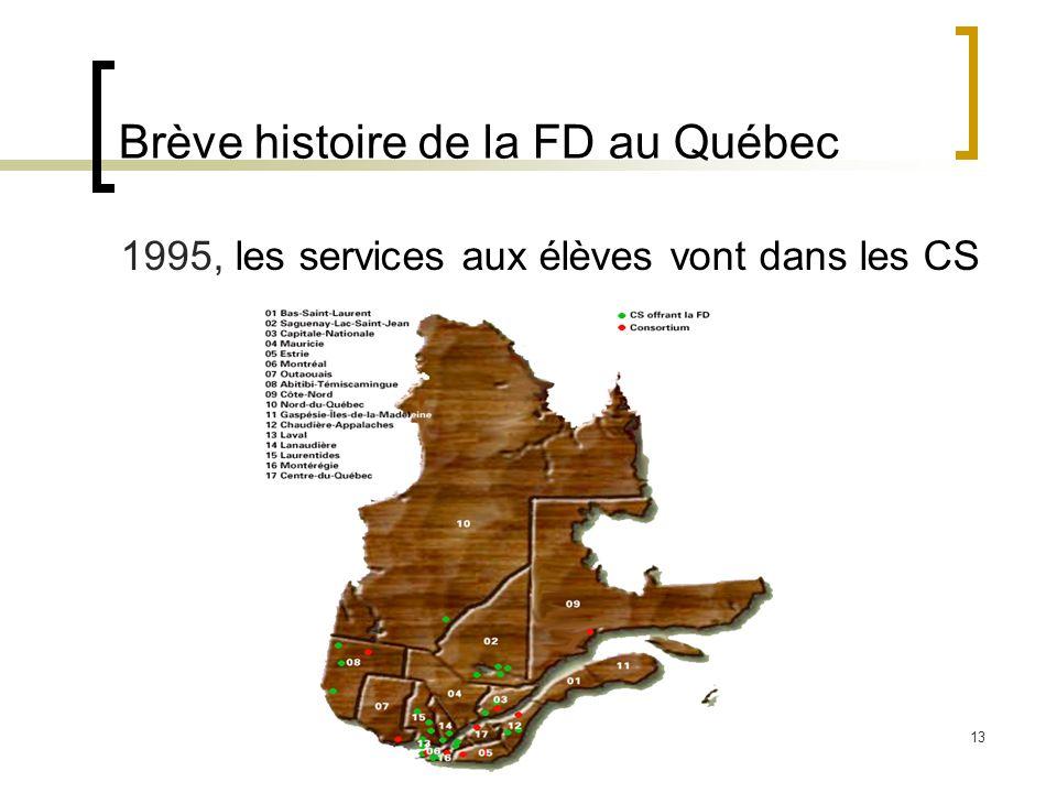 Brève histoire de la FD au Québec