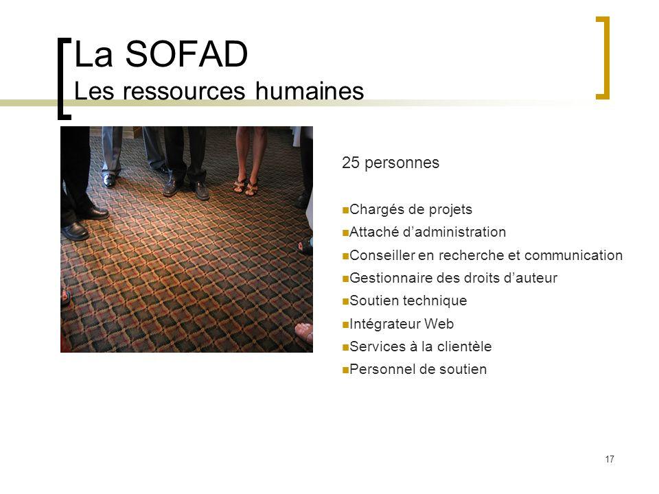 La SOFAD Les ressources humaines