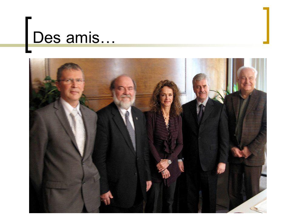 Des amis… 22 janvier 2010 De gauche à droite, M. Daniel Desbiens, M. Wojtek Winnicki, Mme Mimi Pontbriand, M. Pierre Giguère et M. Marc Leduc.