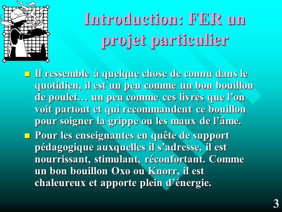Introduction: FER un projet particulier