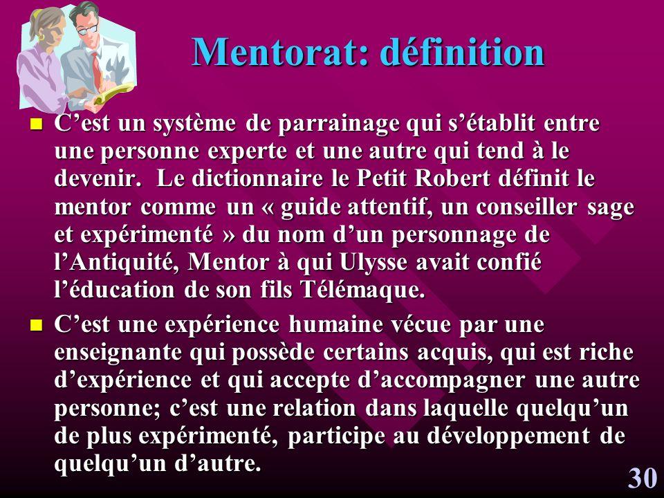 Mentorat: définition