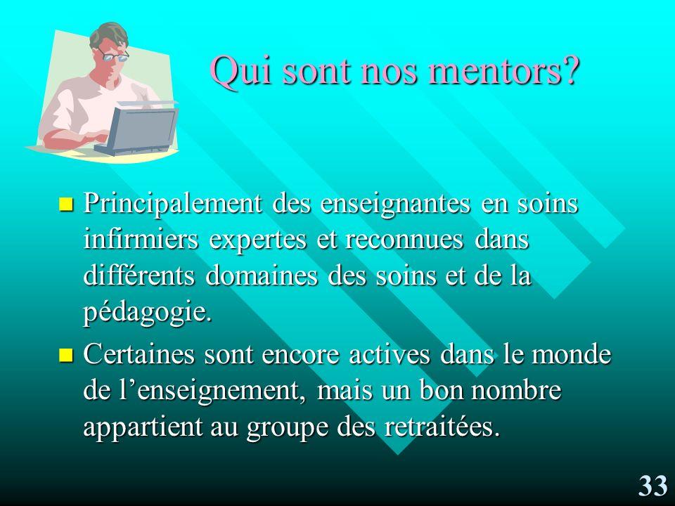 Qui sont nos mentors