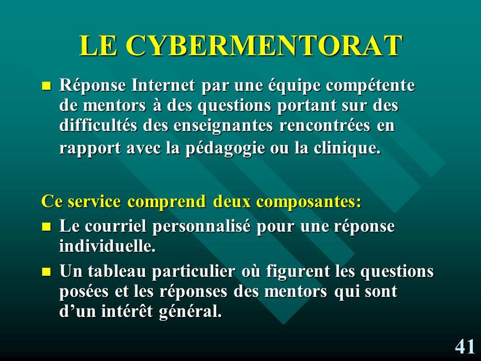 LE CYBERMENTORAT
