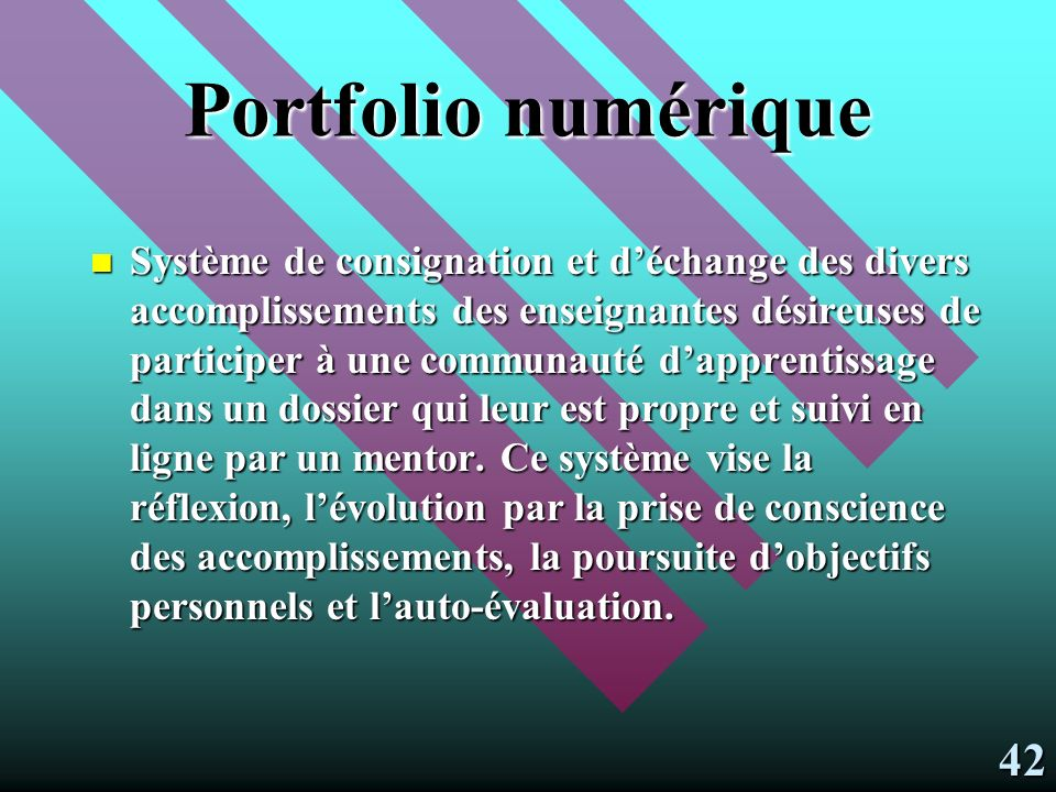 Portfolio numérique