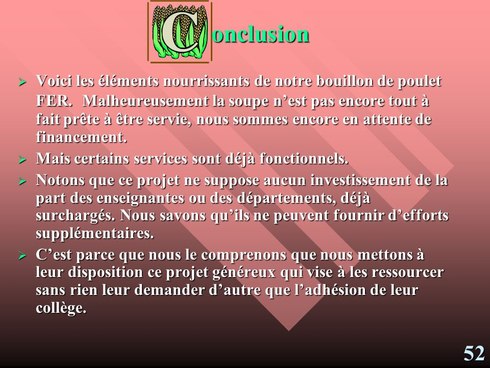 onclusion
