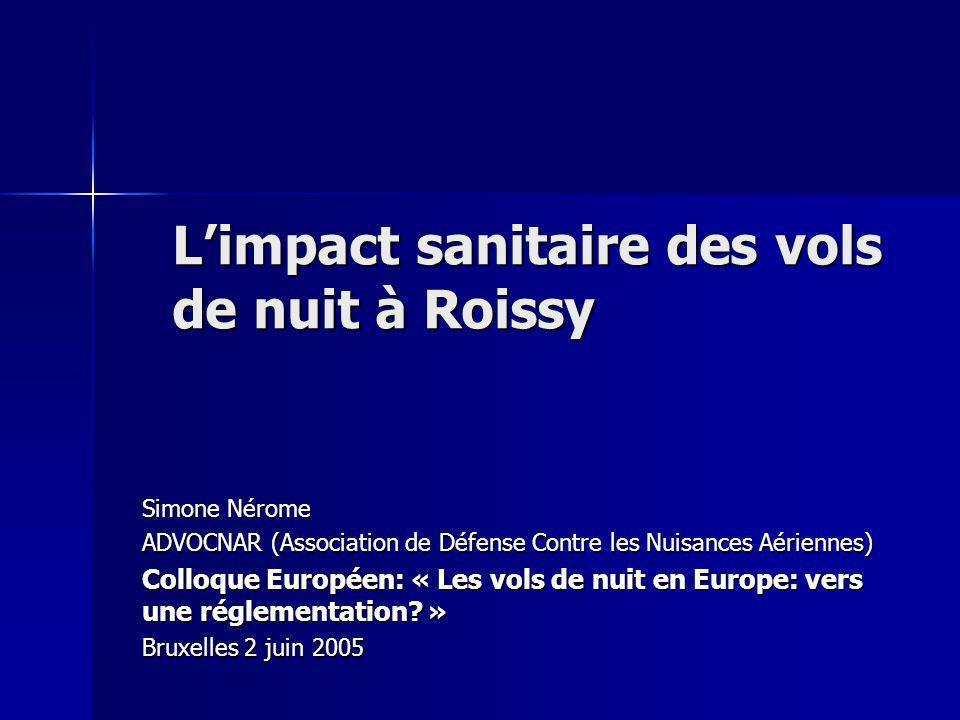 L'impact sanitaire des vols de nuit à Roissy