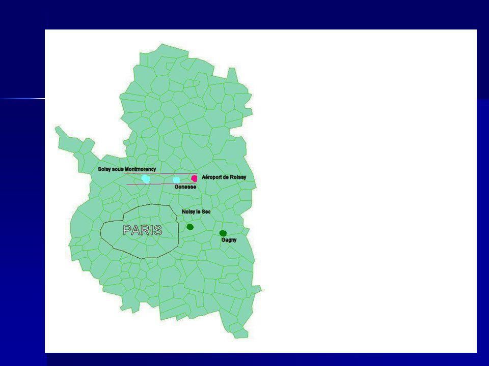 Méthodologie Exposés: 500 personnes habitant Gonesse et Soisy-sous-Montmorency.
