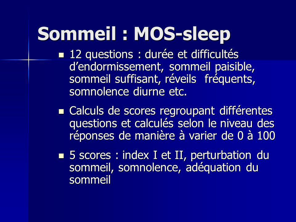 Sommeil : MOS-sleep