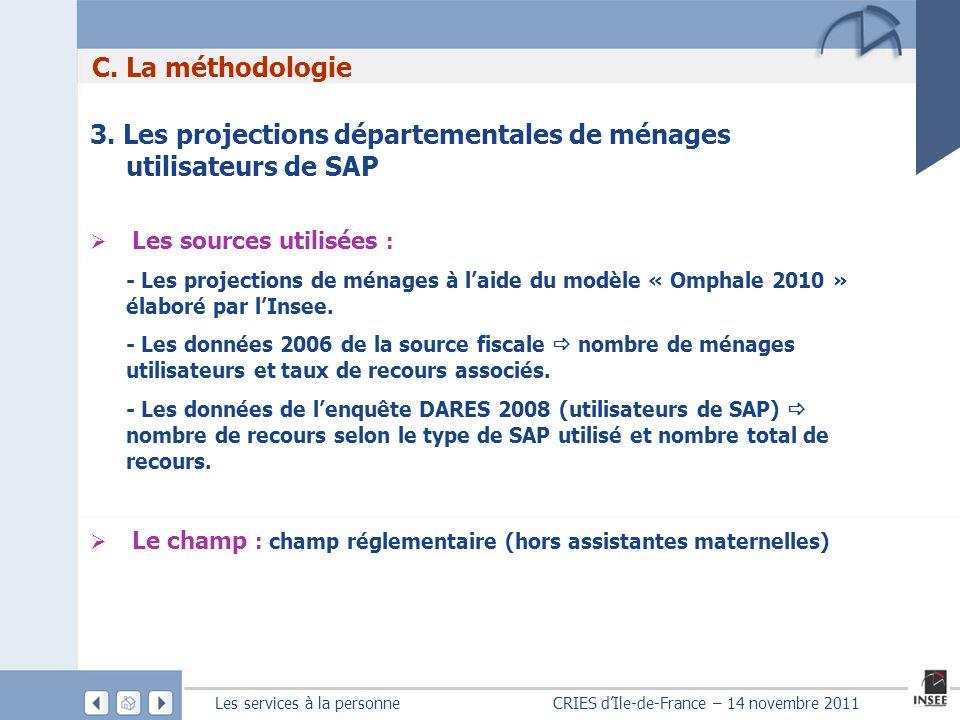 3. Les projections départementales de ménages utilisateurs de SAP