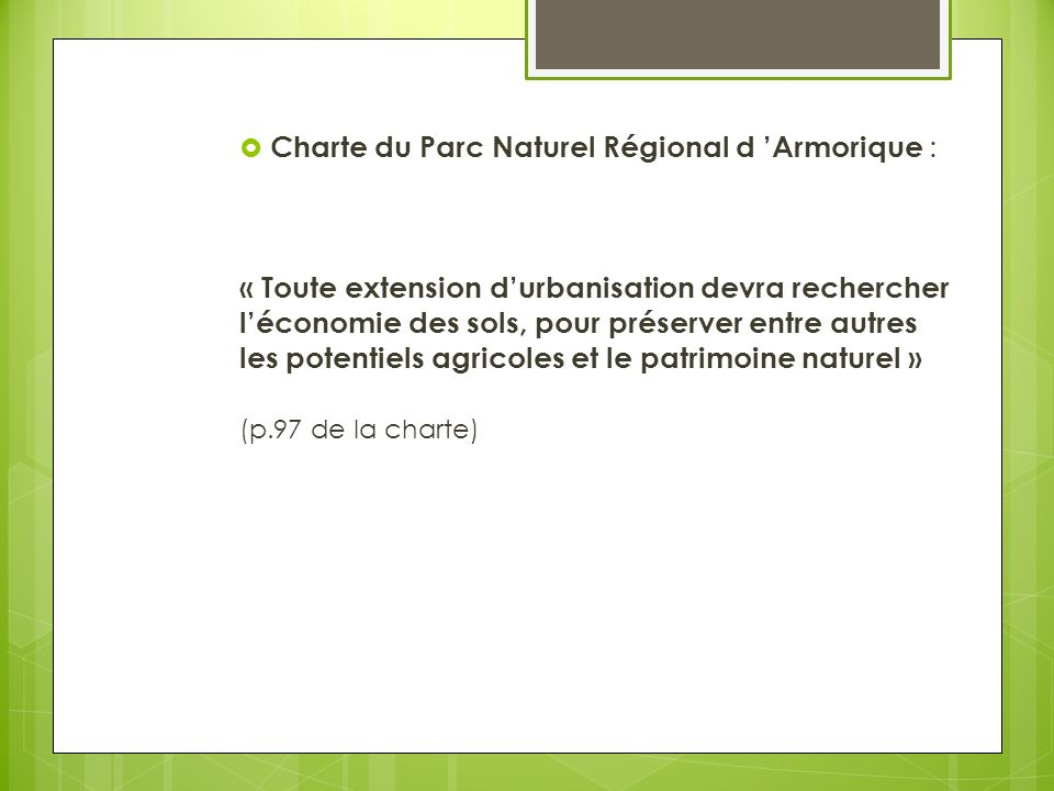Charte du Parc Naturel Régional d 'Armorique :
