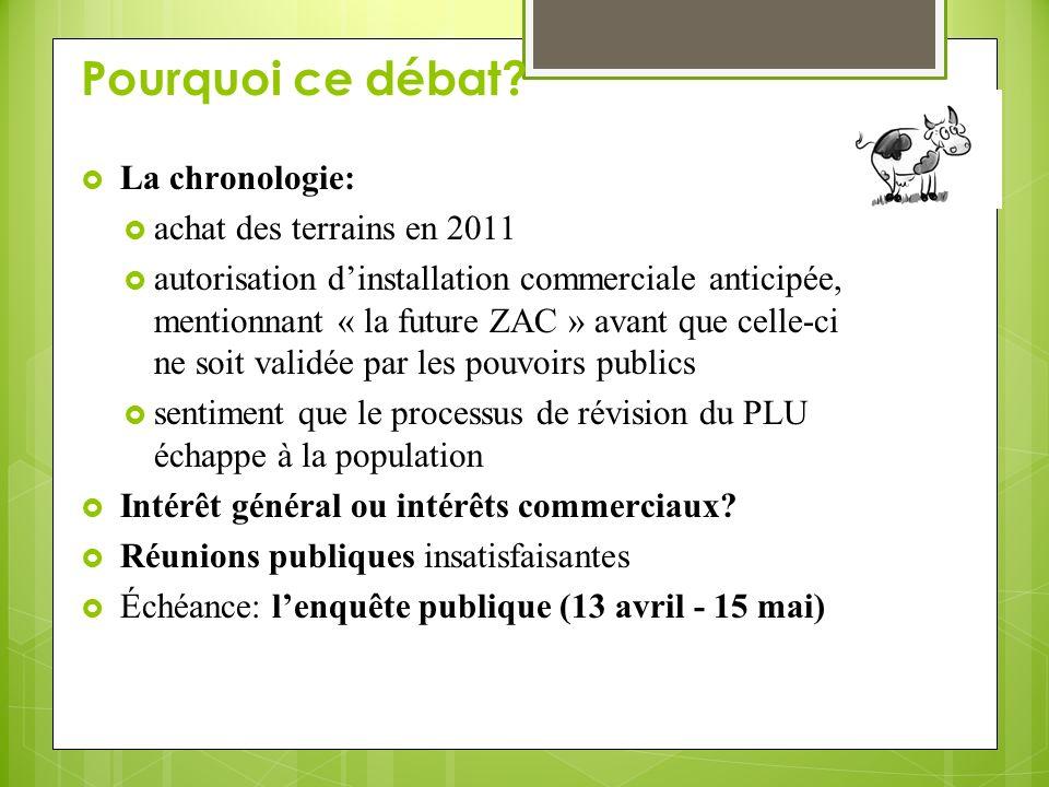 Pourquoi ce débat La chronologie: achat des terrains en 2011
