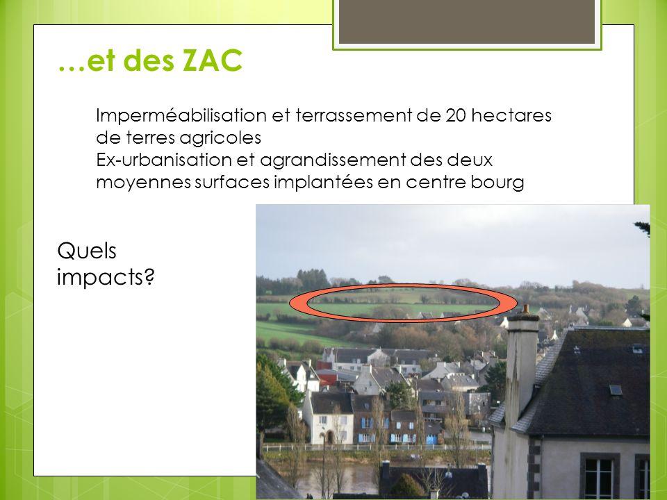 …et des ZAC Quels impacts