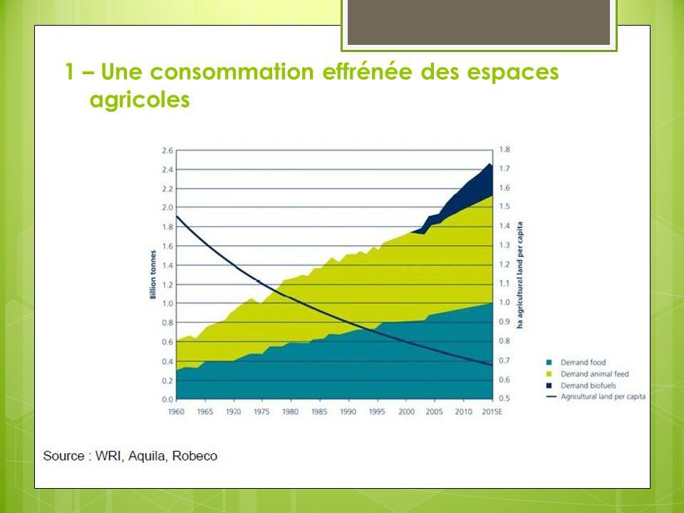 1 – Une consommation effrénée des espaces agricoles