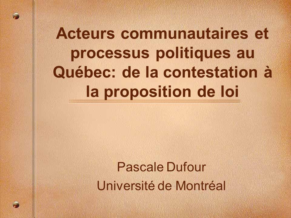 Pascale Dufour Université de Montréal