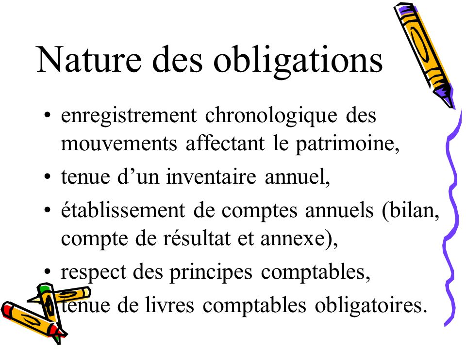 Nature des obligations