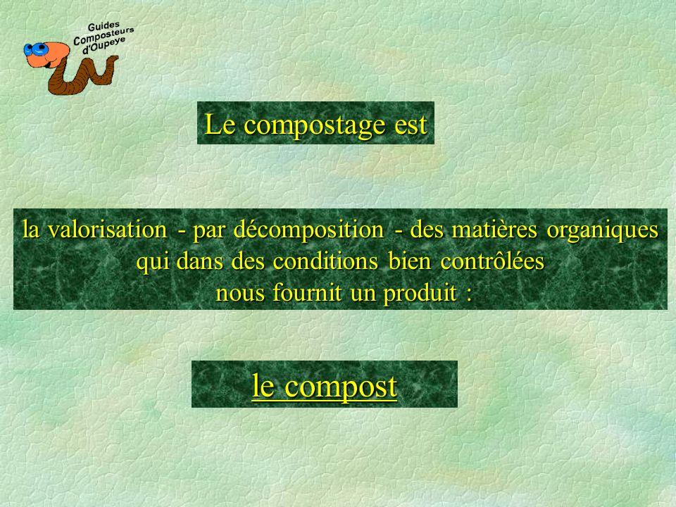 le compost Le compostage est