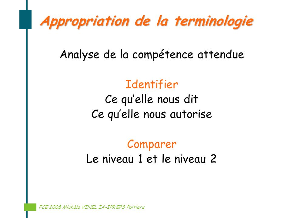 Appropriation de la terminologie