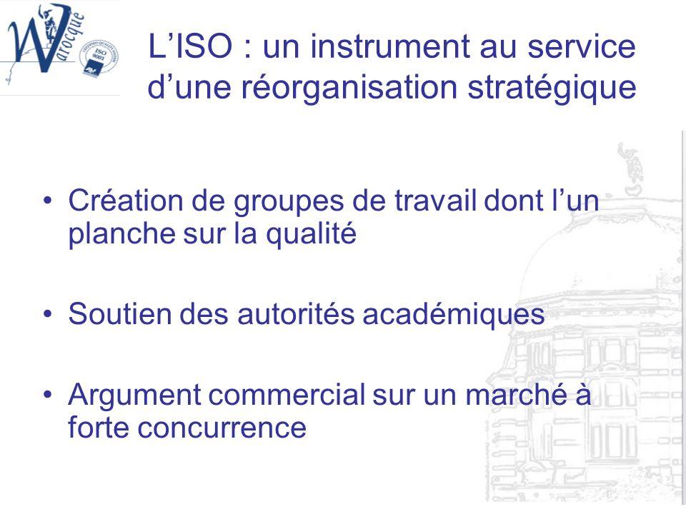 L'ISO : un instrument au service d'une réorganisation stratégique