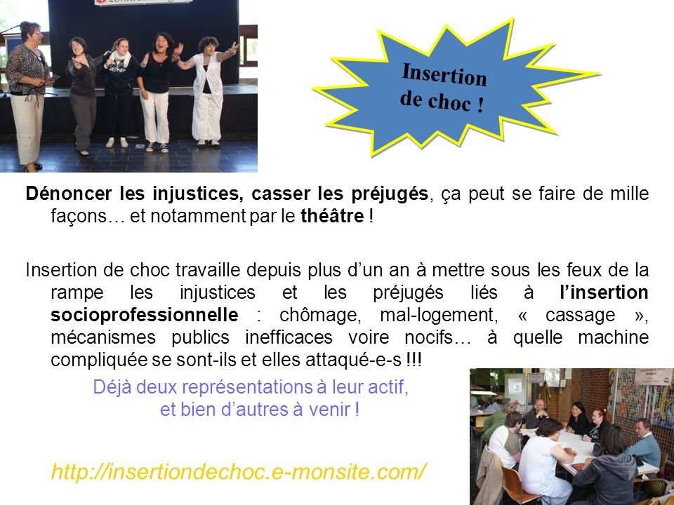 Insertion de choc ! http://insertiondechoc.e-monsite.com/