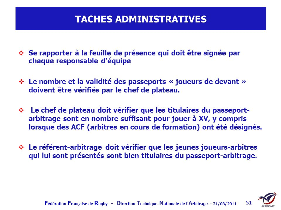 TACHES ADMINISTRATIVES