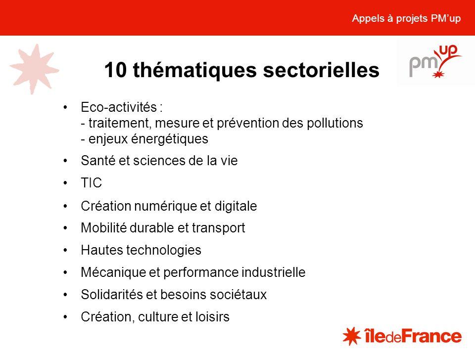 10 thématiques sectorielles