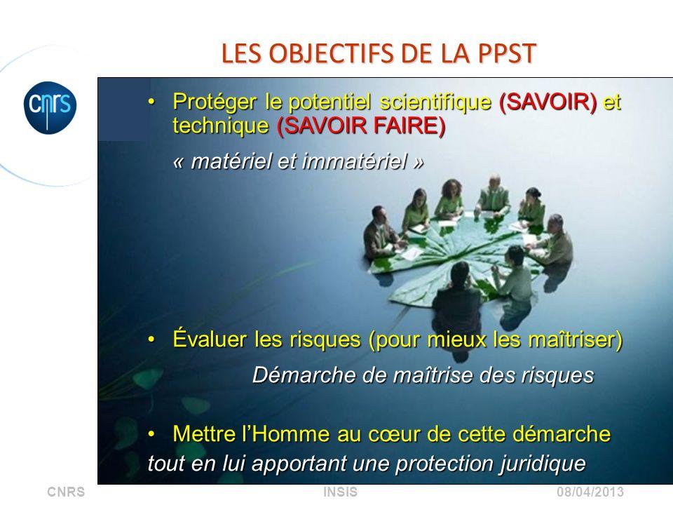 LES OBJECTIFS DE LA PPST