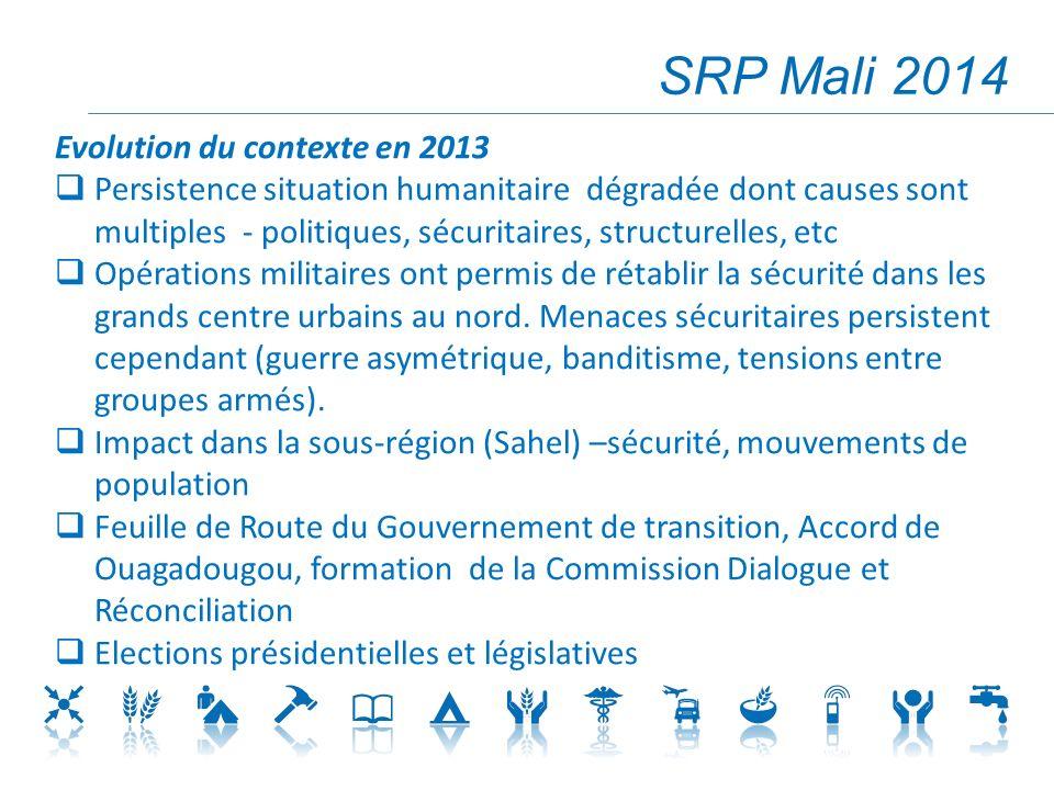 SRP Mali 2014 Evolution du contexte en 2013