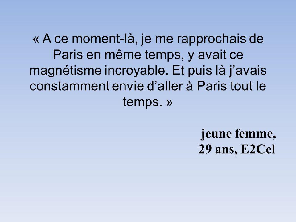 « A ce moment-là, je me rapprochais de Paris en même temps, y avait ce magnétisme incroyable.