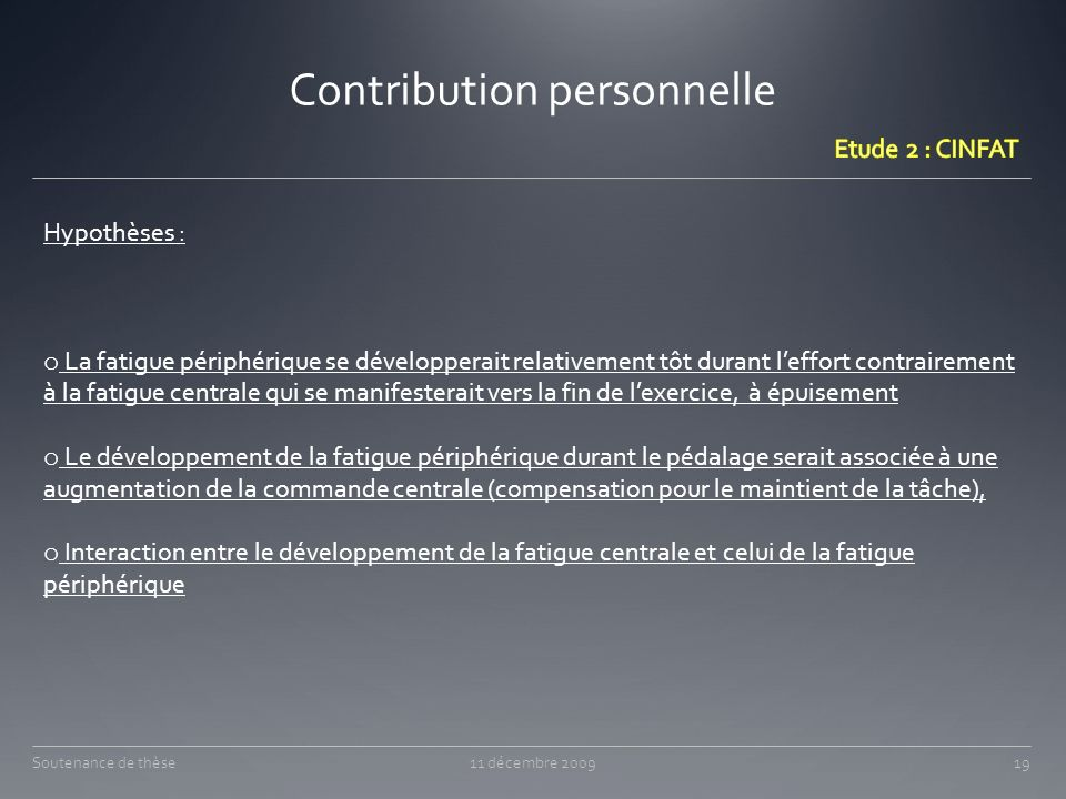 Contribution personnelle