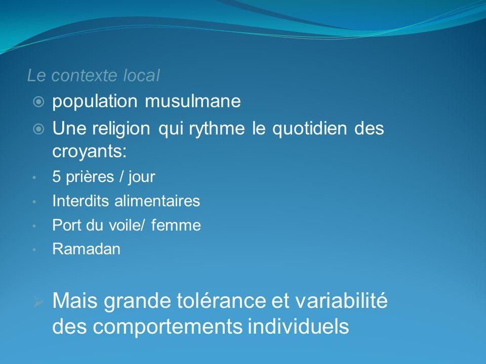 Mais grande tolérance et variabilité des comportements individuels