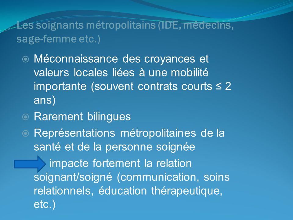Les soignants métropolitains (IDE, médecins, sage-femme etc.)