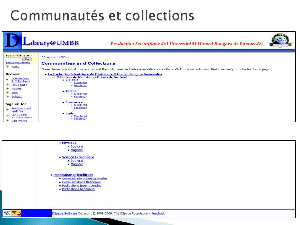 Communautés et collections