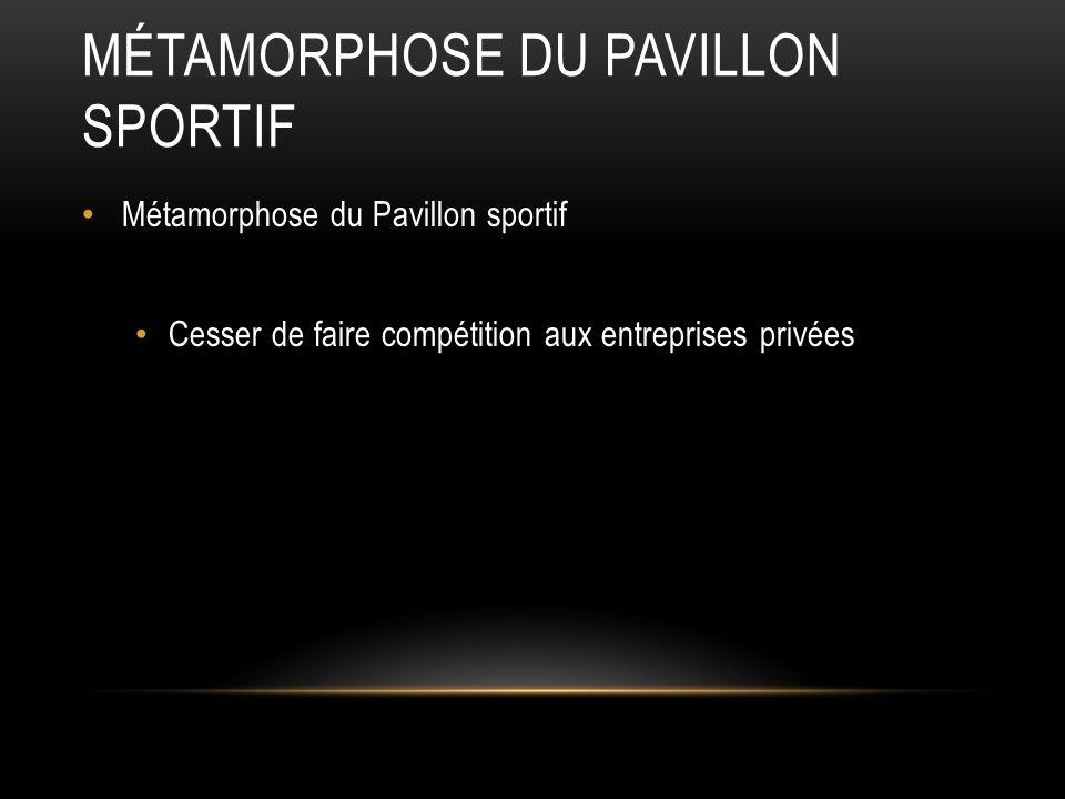Métamorphose du Pavillon sportif