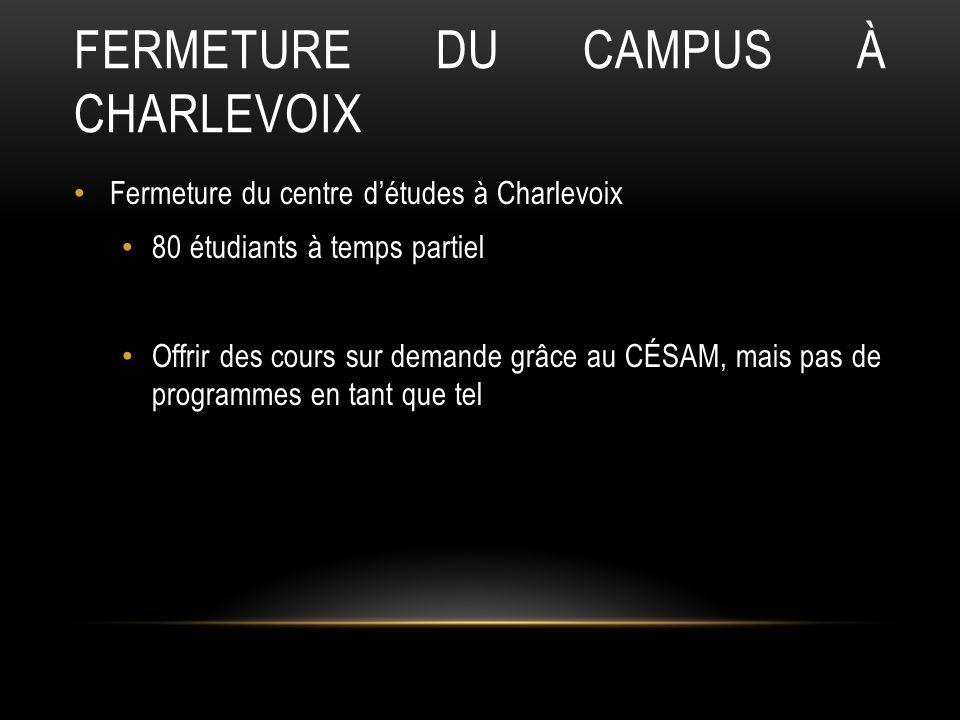 Fermeture du campus à Charlevoix