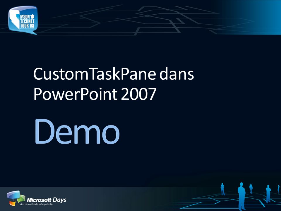 CustomTaskPane dans PowerPoint 2007