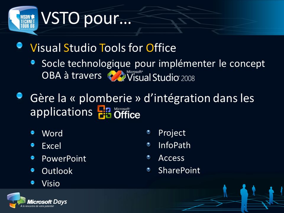 VSTO pour… Visual Studio Tools for Office