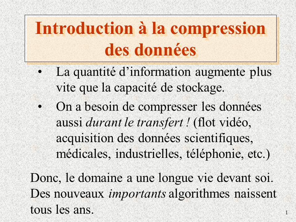 Introduction à la compression des données
