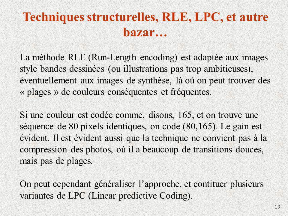 Techniques structurelles, RLE, LPC, et autre bazar…