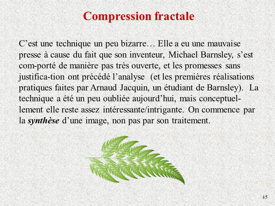 Compression fractale