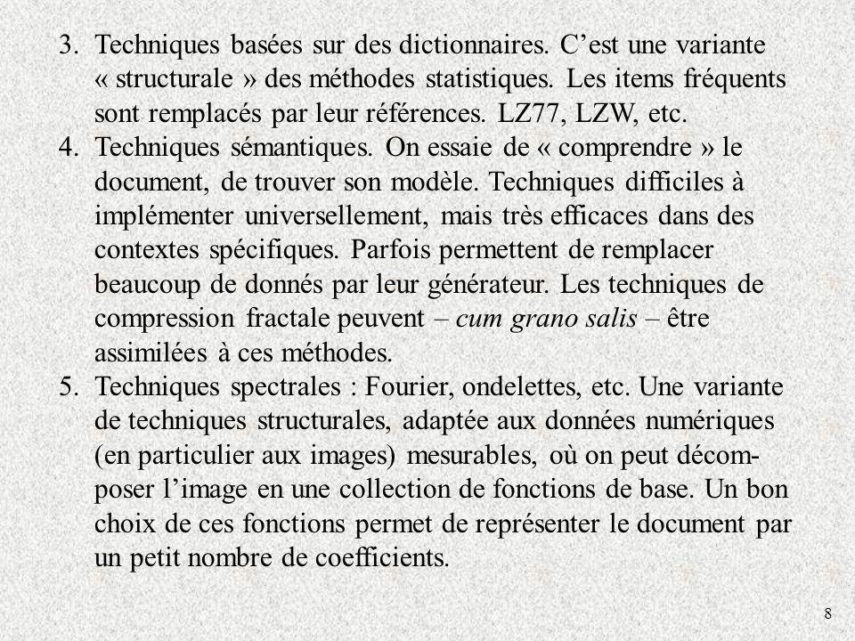 Techniques basées sur des dictionnaires