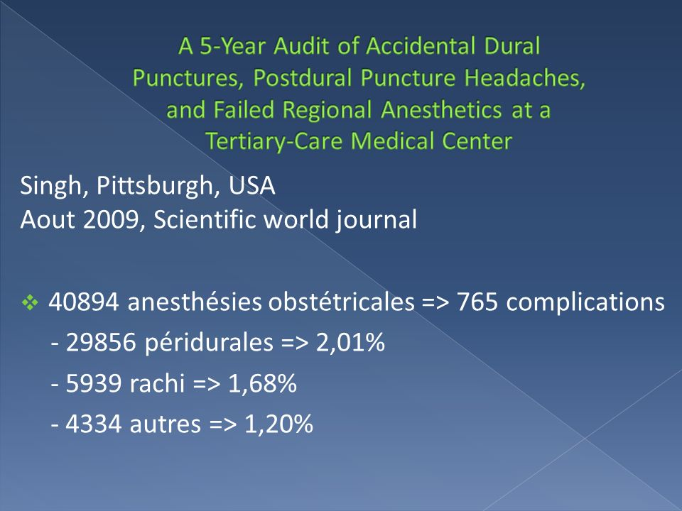 Singh, Pittsburgh, USA Aout 2009, Scientific world journal