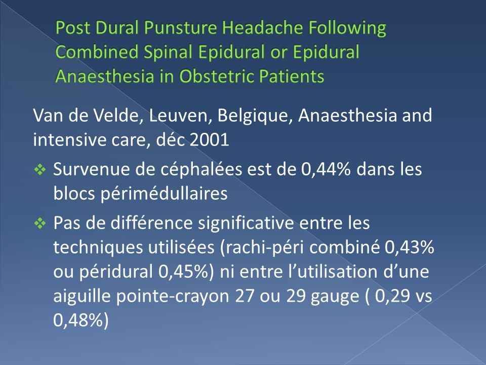 Post Dural Punsture Headache Following Combined Spinal Epidural or Epidural Anaesthesia in Obstetric Patients