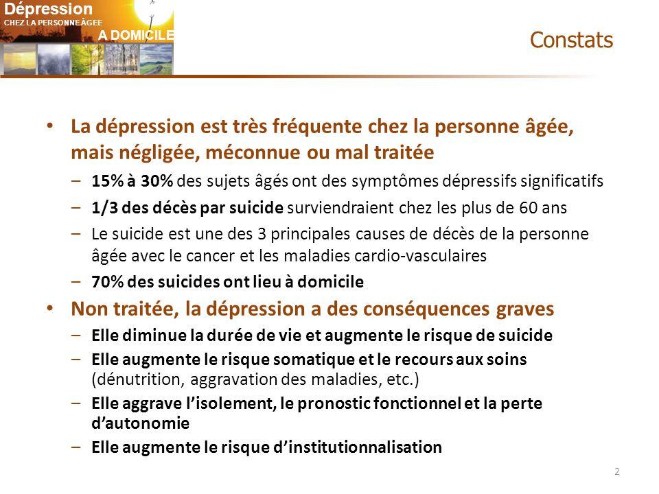Non traitée, la dépression a des conséquences graves