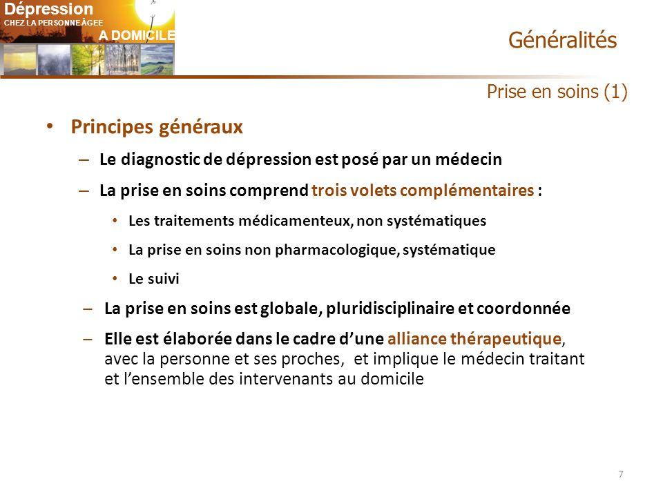 Généralités Principes généraux Prise en soins (1)