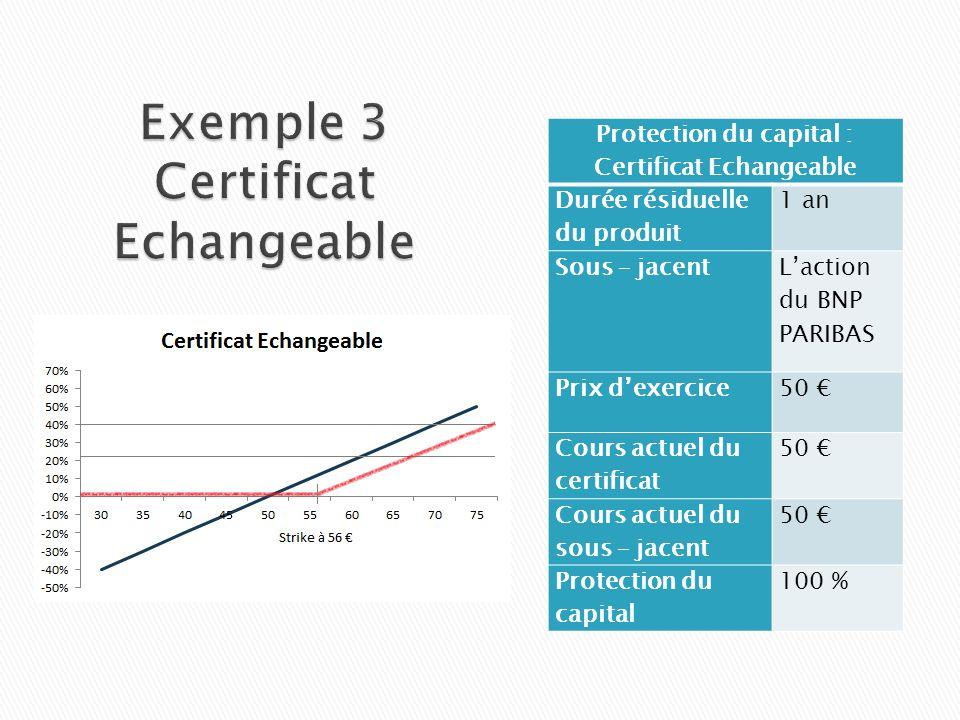 Exemple 3 Certificat Echangeable